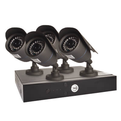 Yale Easy Fit HD 4 Camera CCTV Kit)