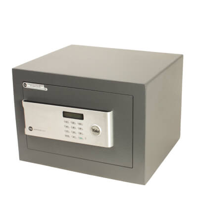 Yale Certified Home Safe - 250 x 350 x 300mm - Grey)