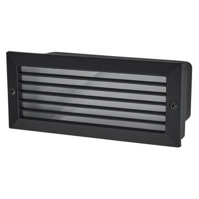 24 White LED Brick Light - Black)