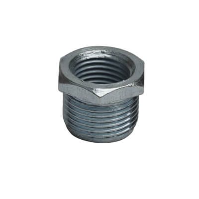 Steel Conduit Reducer 20mm to 16mm - Zinc Plated)
