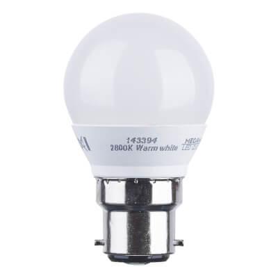 3.5W BC LED Golf Ball Lamp - Warm White)