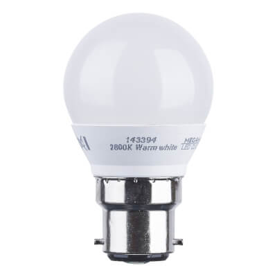 3.5W BC LED Golf Ball Lamp - Warm White