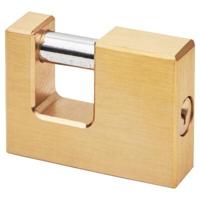 Solid Brass Shutter Lock - 90mm - Keyed to Differ)