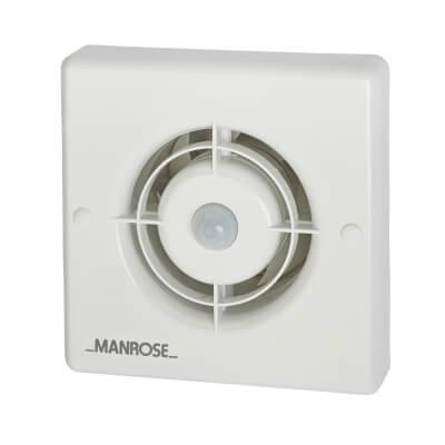 Manrose XF100PIR 4 Inch Axial Extractor Fan with PIR)