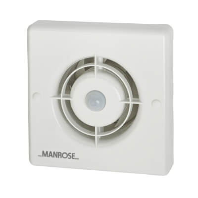 Manrose XF100PIR 4 Inch Axial Extractor Fan with PIR)