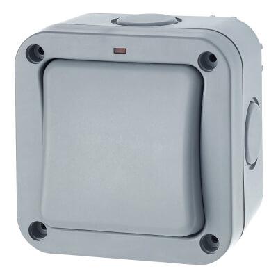 BG 20A IP66 1 Gang 1 Way Weatherproof Switch - Grey