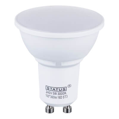 BG 5W LED GU10 Spotlight Lamp - Warm White)