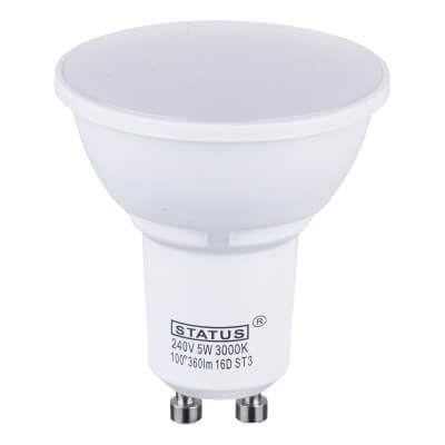 5W LED GU10 Spot Lamp - Warm White)
