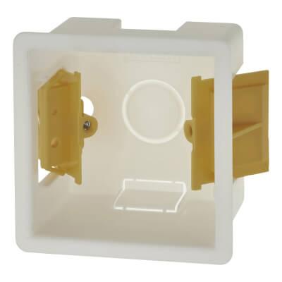 Appleby 1 Gang Dry Line Box - 46mm - White)