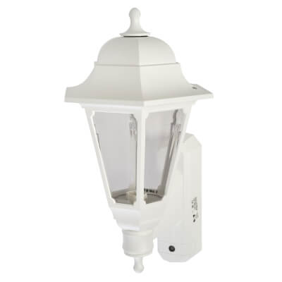 ASD Lighting Coach Lantern with Photocell - White)