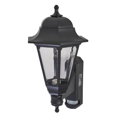 ASD Lighting Coach Lantern with PIR - Black)