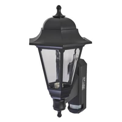 ASD Lighting Coach Lantern with PIR - Black)