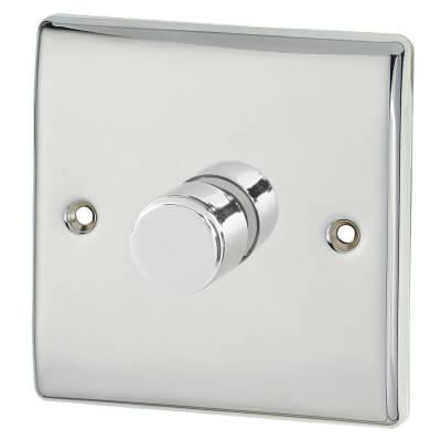 BG 400W 1 Gang 2 Way Leading Edge LED Dimmer Switch - Polished Chrome)