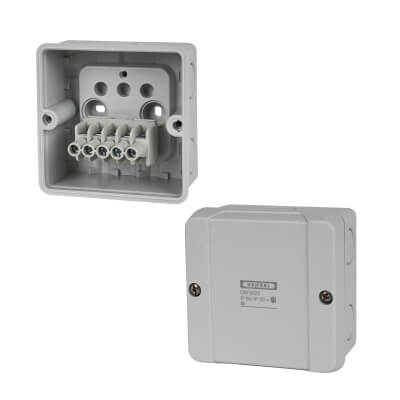 Hensel IP65 3 Inch Connection Box - Grey)