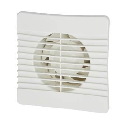 Manrose FLAT100T 4 Inch Flat Axial Extractor Fan with Timer)