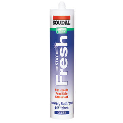 Soudal Stay Fresh Ultimate Anti-mould Sealant - 300ml - Clear)