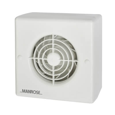 Manrose CF100T 4 Inch Centrifugal Extractor Fan with Timer)