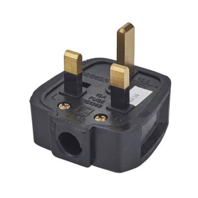 13A Rubber Plug Top - Black
