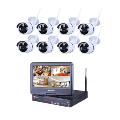 Ener-J Outdoor Wireless Wi-fi IP Camera System - 8 Cameras/2TB storage)