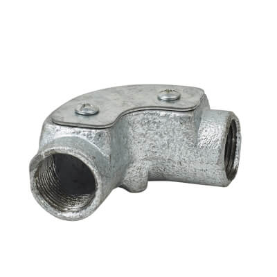Steel Conduit Inspection Elbow - 25mm - Galvanised)
