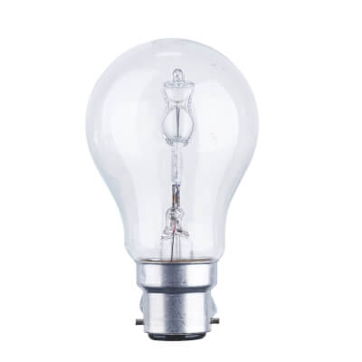 70W BC GLS Halogen Lamp - Dimmable - Clear)