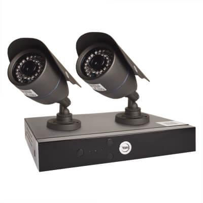 Yale Easy Fit HD 2 Camera CCTV Kit)