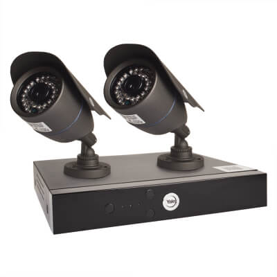 Yale Easy Fit HD 2 Camera CCTV Kit)