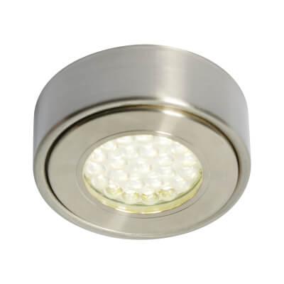 1.5W 240V LED Circular Cabinet Light - Cool White)