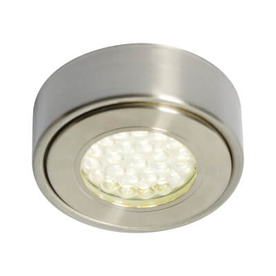 1.5W 240V LED Circular Cabinet Light - Cool White)
