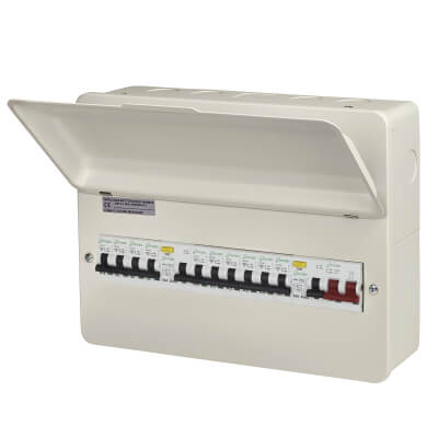 Danson 100A Metal Consumer Unit - 10 Way RCD with 10 MCBs