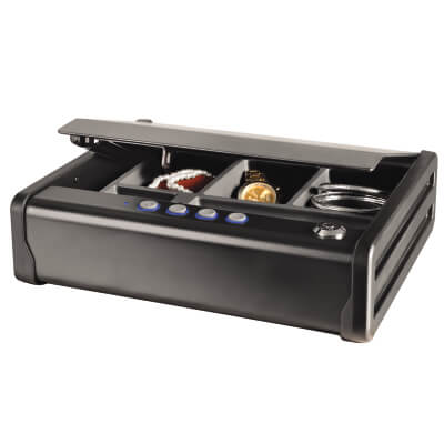 Masterlock Compact Security Safe with Key & Electronic Lock - 251 x 307 x 81mm )
