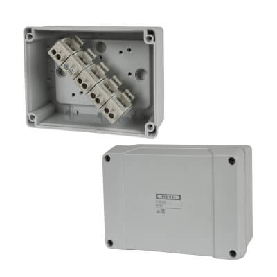 Hensel IP65 6 Inch Connection Box - Grey)