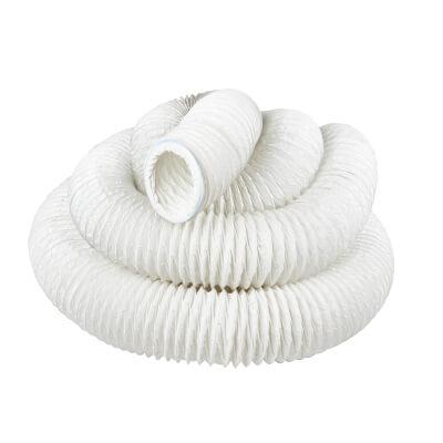 Manrose 4 Inch PVC Flexible Ducting - 15m - White)