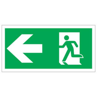 Running Man with Arrow - Left - 150 x 300mm - Rigid Plastic)