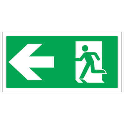 Running Man with Arrow - Left - 150 x 300mm - Rigid Plastic)
