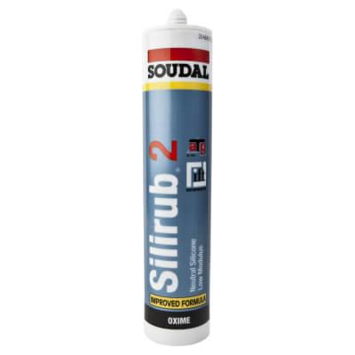 Soudal Silirub 2 Neutral Silicone - 300ml - Black)