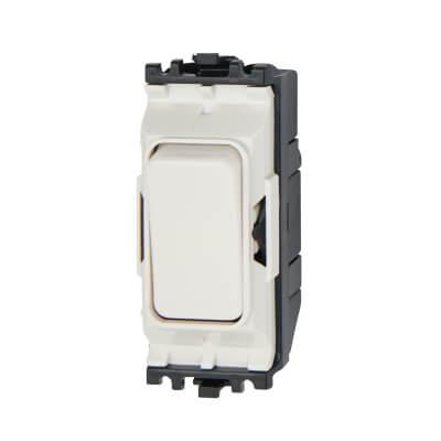 MK 20A 2 Way Single Pole Switch Module - White)
