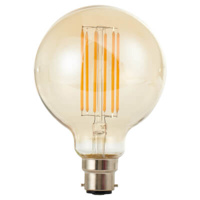 6W LED Vintage Large Globe - BC - Tinted)