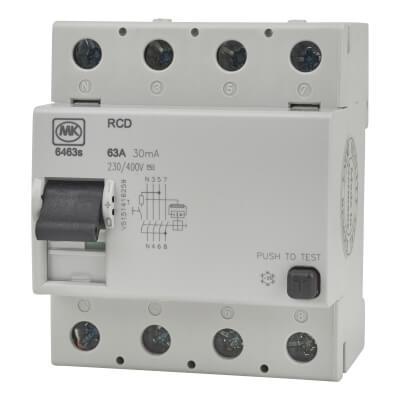 MK 30A 63mA 4 Module RCD