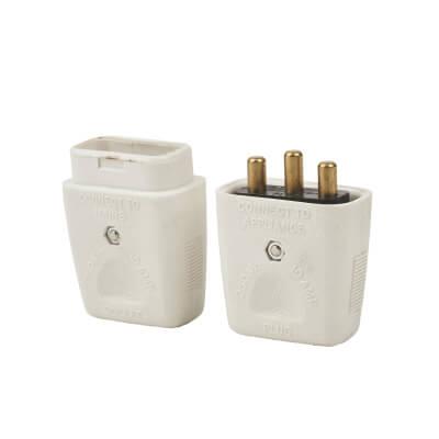 MK Duraplug 3 Pin Inline Connector - White)