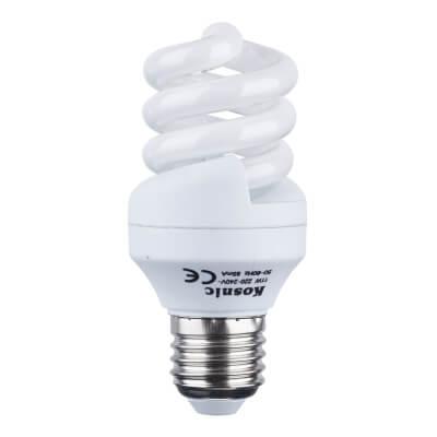 11W ES Energy Saving Spiral Lamp - Warm White)