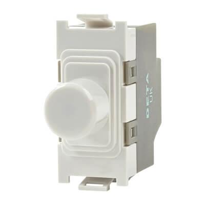 Deta 40-250W 2 Way Dimmer Grid Switch - White)