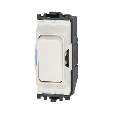 MK 10A 1 Way Single Pole Switch Module - White