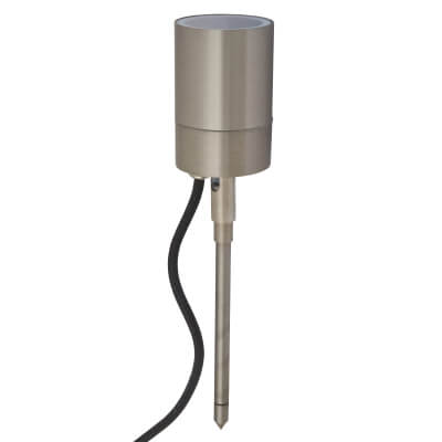 Forum Leto 35W Wall and Ground Spike Light - Stainless Steel)