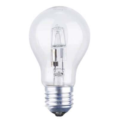 42W ES GLS Halogen Lamp - Dimmable - Clear)