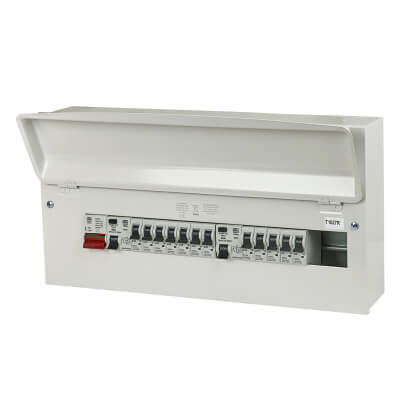 MK Sentry 15 Way 100A Dual Split Load High Integrity Consumer Unit with 12 MCBs - Amendment 3)