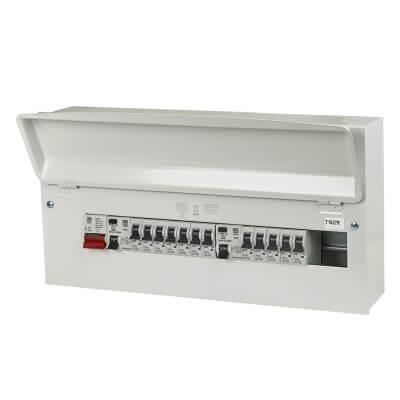 MK Sentry 15 Way 100A Dual Split Load High Integrity Consumer Unit with 12 MCBs - Amendment 3)