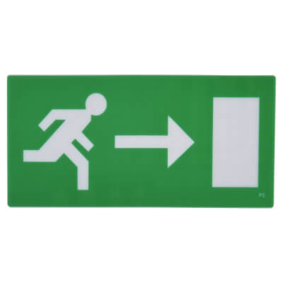 Emergency Exit Sign - Right Arrow - Legend