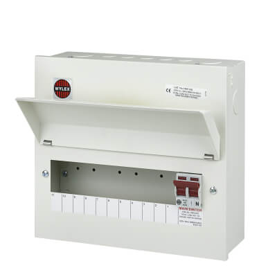 Wylex 11 Way 100A Main Switch Metal Consumer Unit - Amendment 3)
