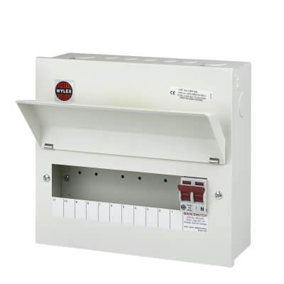 Wylex 11 Way 100A Main Switch Metal Consumer Unit - Amendment 3)